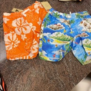 2 baby gap swim trunks